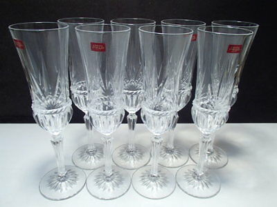 8 Cristal d'Arques Carthage Champagne Flutes ~ In Box ~~~PRICE DROP