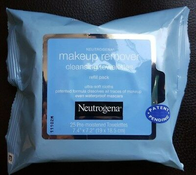 Brand new / Neutrogena makeup remover cleansing towelettes refill pack /25 wipes