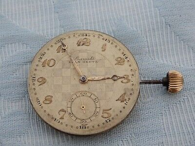 """Unusual Antique German Retailed """"Koln"""" pocket watch movement, from old estate"""
