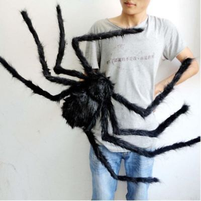 Big Spider Halloween Decoration Scary Prop Party Giant Props Black 30 50 75cm