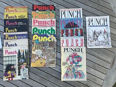 Punch Magazines Complete Collections 1970-1976, 1982-1991 (900 Magazines total)