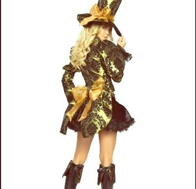New Tea Party Mad Hatter Halloween Costume Cosplay Woman Plus Size 14/16 XL 1X