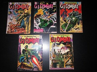 *g.i. Combat (5) Issues (1963-64) #96/98/103/109/111 Vg-/vg One Owner Nice Set*