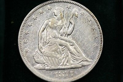 1877 SEATED LIBERTY HALF DOLLAR - XF Details