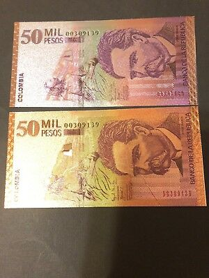 24 KT GOLD Colombia GOLDEN NOTE* COMES IN BILL ONLY