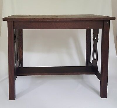 "Antique Arts and Crafts Mission Oak Library  Table "" PRICE DROP """
