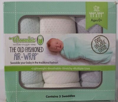 """Woombie Old Fashioned Air Wraps 3 Count size 44""""x44"""""""