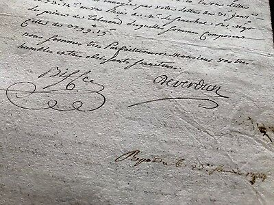 1734 Old Document on Paper