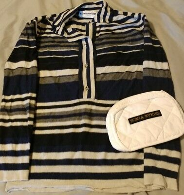 83f629e49f0 SONIA RYKIEL Sweater and mini makeup bag white quilted