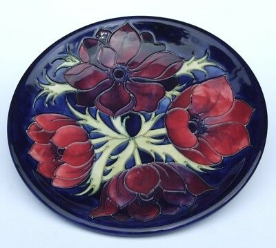 Moorcroft Pottery Anemone Design no.34/94 Plate 10""