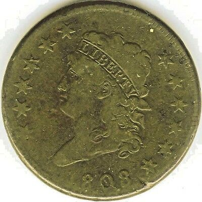 1808 Large Cent – Classic Head – Grade Very Good+