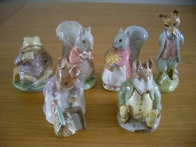 Beswick Beatrix Potter Six Figures  Royal Albert Backstamp All Excellent