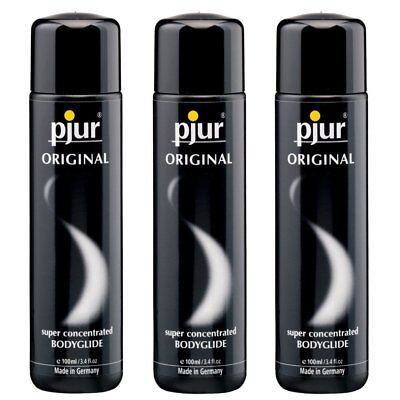 3 Pjur Original Silicone Based Lube Lubricant BodyGlide 100 ml Made in Germany