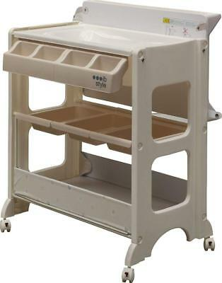 Infant Baby Bath Set - Changing table and bath with storage