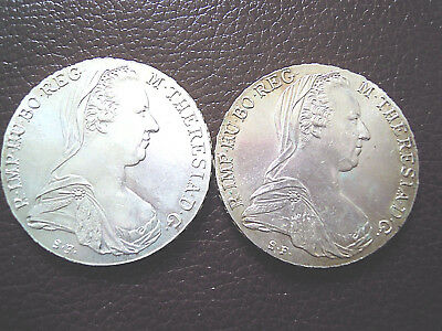 Lot 2 x Silber Taler  Österreich 1780 Maria Theresia - Theresien Taler -
