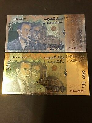 24 KT GOLD Moroccan BILL  GOLDEN NOTE* COMES IN BILL ONLY