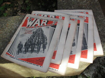 The War Illustrated Magazine.hard To Get Volume One,1-6 Editions.1939 Ww2 Dated.