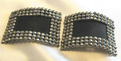 A Beautiful Pair of Art Deco Period Steel Cut Shoe Buckles