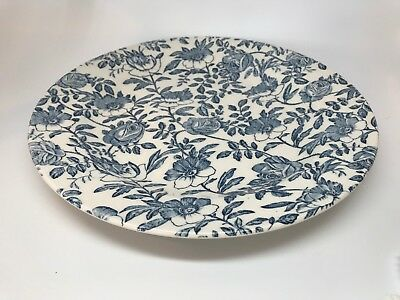 """Collectible CHURCHILL Blue Chintz Rose/Peony 10"""" Dinner Plate - Made in England"""