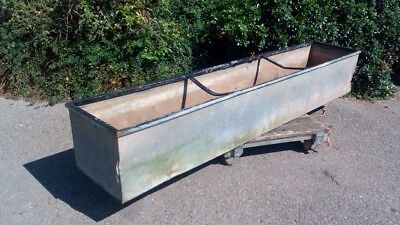 Large Galvanised Water Tank Trough Planter Garden Feature Vintage,local deliver