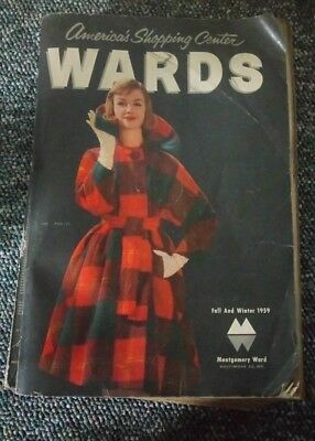 Vintage Montgomery WARDS Catalog,fall and winter 1959, Americas shopping center
