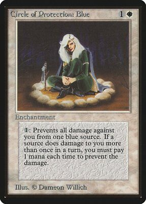 Black Unlimited PLD White Common MAGIC CARD ABUGames Circle of Protection