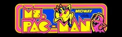 Ms Pacman Arcade Marquee – 23″ x 9″