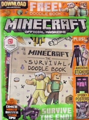 Minecraft Official Magazine Issue #9 ~ New Sealed Pack ~