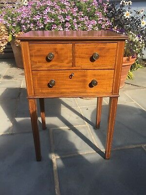 Antique Mahogany Bedside Cabinet or Side Table or Sofa Table