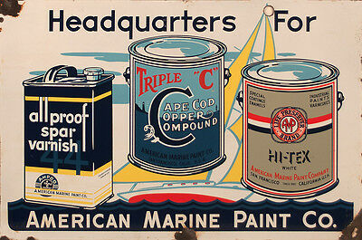 """american Marine Paint Company"" Advertising Metal Sign"