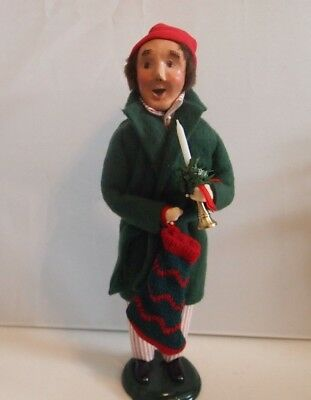 Byers Choice Traditional Christmas Caroler 2007 Man with Candle Stocking Figure