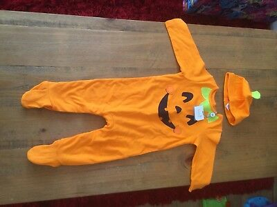 Baby Clothes Unisex Boy Girl Halloween Pumpkin Sleepsuit Babygrow 6-9 months