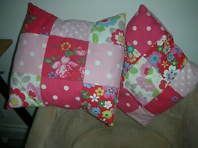 Cath Kidston PATCHWORK cushion covers x 2