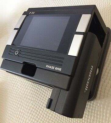 Phase One P20 Digital Back with Battery Charger