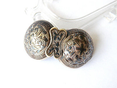 Antique Nielo Silver BELT BUCKLE Russian Folk, Silversmith НП, Moscow ca.1890