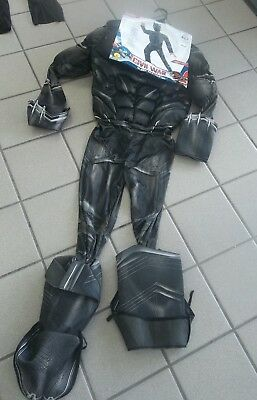 NWT Boys sz Large(12-14) Marvel Avengers Black Panther Halloween Costume Muscles