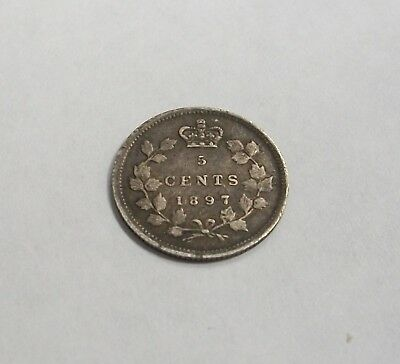 1897 Canada 5 Cents Circulated - Canadian 5¢