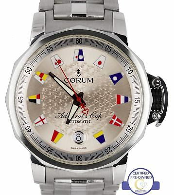 Corum Admiral's Cup Trophy 41mm Automatic Flags Steel Date Watch 082.830.20