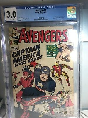 Marvel The Avengers #4 CGC Comic (Silver-age First Appearance Of Captain America