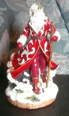 Fitz and Floyd TOWN & COUNTRY Santa Claus Figurine Figure Statue Christmas BIG