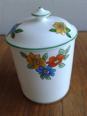"Stunning George Jones Crescent China Miniature Preserve Pot ""sunning""."