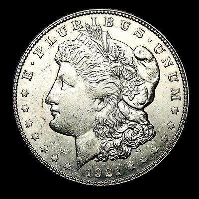 1921 S ~**ABOUT UNCIRCULATED AU**~ Silver Morgan Dollar Rare US Old Coin! #99F