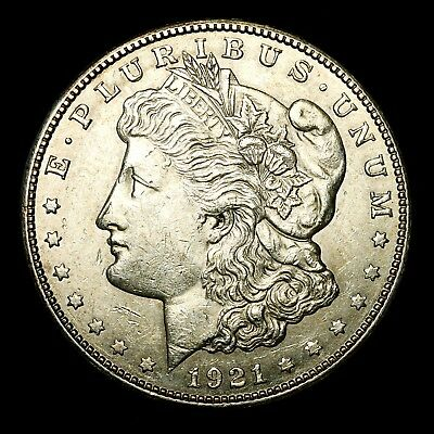 1921 S ~**ABOUT UNCIRCULATED AU**~ Silver Morgan Dollar Rare US Old Coin! #M53