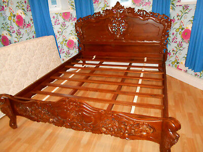 Carved Reproduction Rococo Bed