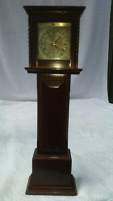 Vintage Miniature Grandfather Clock Bombay Company 1991 Great Condition Works