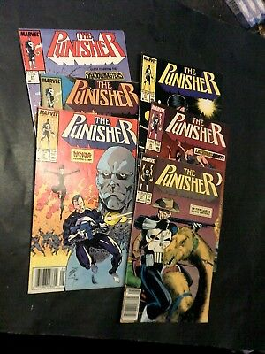 (Lot of 6) The Punisher Comic Books Marvel #'s 19-20-21-22-23- & 24