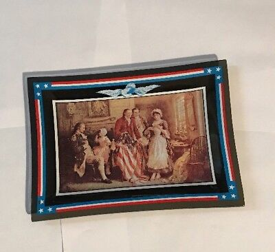 """The Birth of Old Glory by Houze Art. """"Vintage USA HISTORY ART PICTURE in Glass"""""""