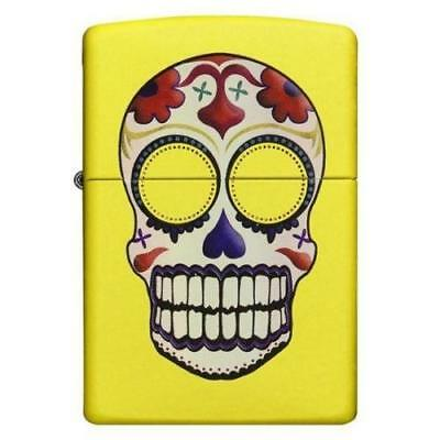 ZIPPO 24894 Neon Yellow Windproof Day of the Dead Lighter