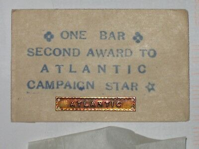 An Original Ww2 Unissued Atlantic Campaign Star Clasp In Official Packet