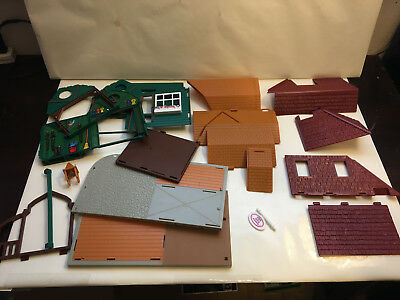 Breyer Horse Playset Parts, Buildings, Bases, Roofing Sections